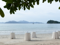 Empfangstische Strandhochzeit