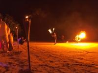 Feuershow Strandhochzeit Lankawi