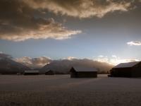 Sonnenuntergang im winterlichen Loisachmoor II