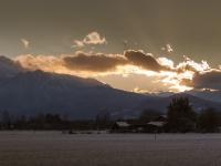 Sonnenuntergang hinter der Kreutalm