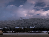 Benediktenwand hinter Wolken