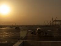 Flughafen Muscat in der Morgensonne