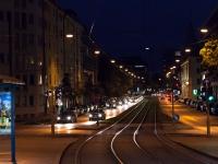 Dachauer Straße bei Nacht