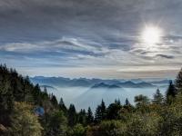 Ausblick von der Tölzer Hütte