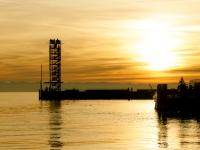 Friedrichshafen im Sonnenuntergang