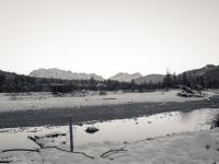 Obere Isar flußauwärts